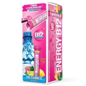 Zipfizz Energy Drink Mix, Pink Lemonade (20 ct)