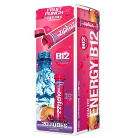 Zipfizz Energy Drink Mix, Fruit Punch (20 ct.)