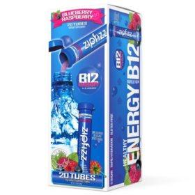 Zipfizz Energy Drink Mix, Blue Raspberry (20 ct)