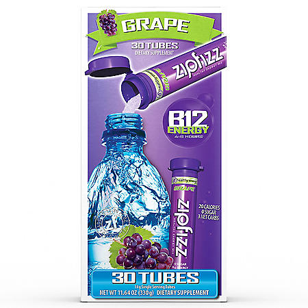 Zipfizz Energy Drink Mix, Grape (30 ct.)