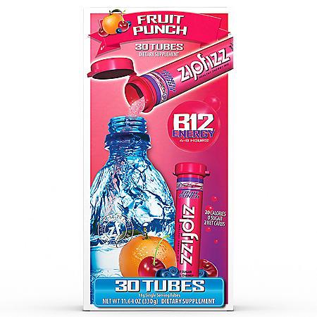 Zipfizz Energy Drink Mix, Fruit Punch (30 ct.)