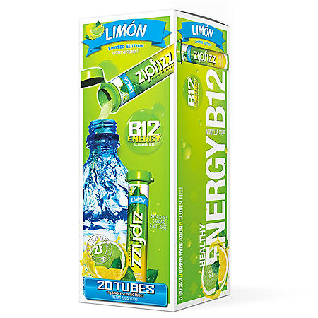 Zipfizz Energy Drink Mix, Limon (20 ct.)