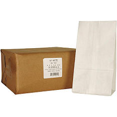 6# White Paper Bag  - 500ct