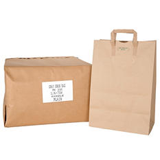 Kraft Paper Bags with Handle - 1/6 70# - 300 ct.