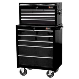 "Excel 26"" Top Chest and Roller Cabinet Combo - Multiple Colors"