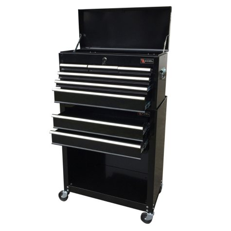 """Excel 24"""" Top Chest and Roller Cabinet Combo - Multiple Colors"""