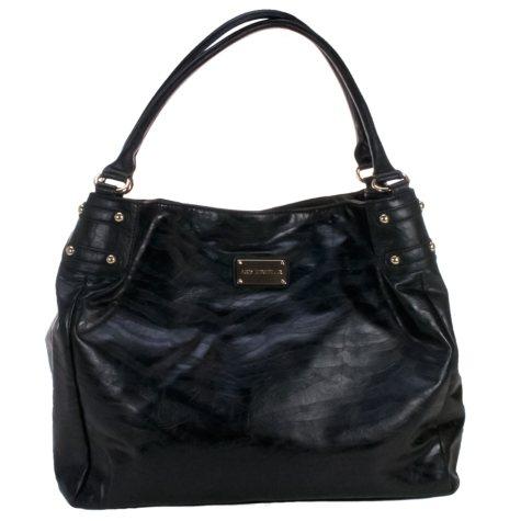 Amy Michelle Zebra Diaper Bag, Black