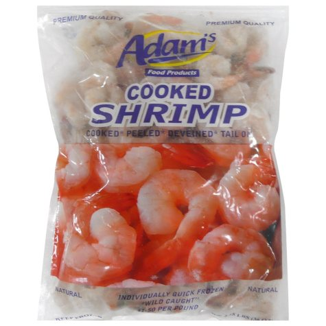 Adam's Cooked Frozen Shrimp - 2.25 lb. bag