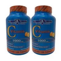 Pharma Natural Vitamin C 1000mg Tablets (120 ct. ea., 2 pk.)