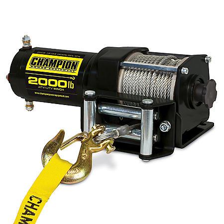 Champion Power Equipment 2,000 lb. Permanent Magnet ATV/UTV Winch Kit