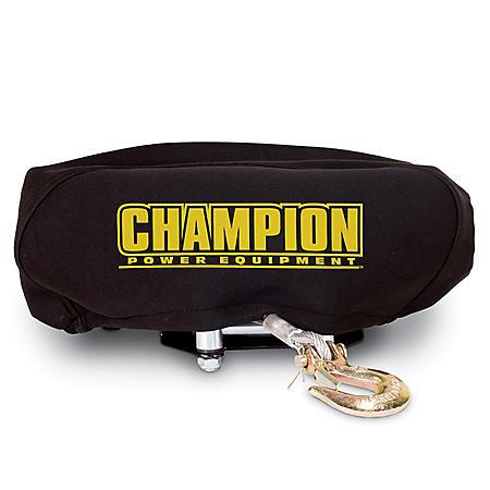 Champion Power Equipment Neoprene Winch Cover Fits 4,000lb - 4,500 lb.