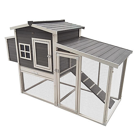 ecoFLEX Hampton Chicken Barn and Pen, Gray