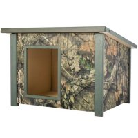"""ECOFLEX Rustic Style Dog House, Medium, Mossy Oak, For Dogs Up To 40 lbs. (28.9"""" x 36.2"""" x 25.5"""")"""