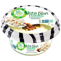 Eat Well White Bean Hummus with Roasted Pine Nuts and Herb Topping (32 oz.)