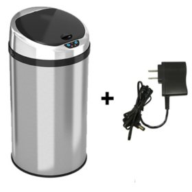 iTouchless Round  Sensor Trash Can, Stainless Steel  (8 gal)