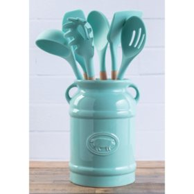 7-Piece Crock and Kitchen Tool Set (Various Colors)
