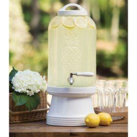 Member's Mark 3 Gallon Pineapple Glass Beverage Jar with Ceramic Base & Lid