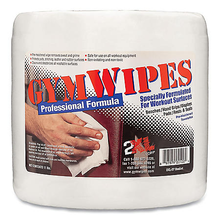 """2XL Professional 8"""" x 6"""" Gym Wipes, Unscented (700 ct./pk, 4 pk.)"""