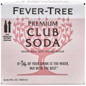 Fever-Tree Premium Club Soda ( 16.9 fl. oz. bottle, 8 pk.)