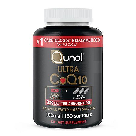 Qunol Ultra CoQ10, 100mg, Softgels (150 ct.)