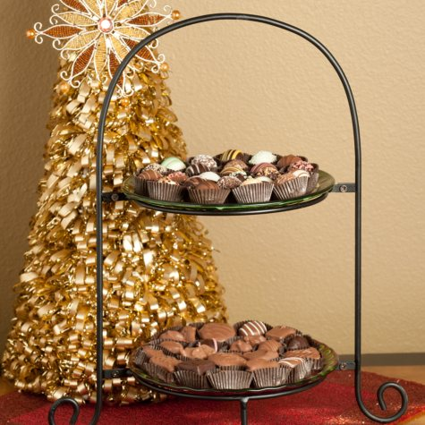 Candy House Two-Tiered Chocolate Server