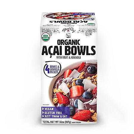Tattooed Chef Organic Acai Bowl, Frozen (4 ct.)