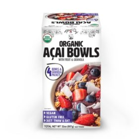 Tattooed Chef Organic Acai Bowl, Frozen (4 ct.)