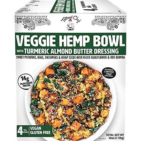 Tattooed Chef Veggie Hemp Bowl, Frozen (10 oz., 4 pk.)