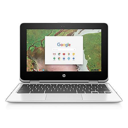 "HP Touchscreen 11.6"" HD IPS Chrome Notebook, Intel Celeron N3350 Processor, 4GB Memory, 32GB Hard Drive, Corning Gorilla Glass 3, HD Webcam, Chrome OS, Free 100GB 2 Year Cloud Storage with Google Drive-save"