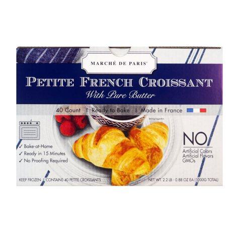 Marche de Paris Petite French Croissants (8.8 lbs., 160 ct.)