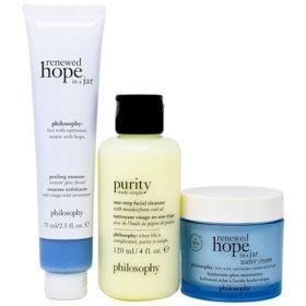 Philosophy Smooth, Glowing & Hopeful Set (3 pc.)