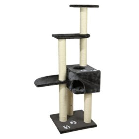 "Trixie Alicante Cat Tree, Gray (17.5"" x 17.5"" x 55.75"")"