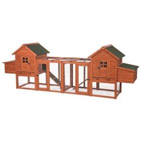 """Trixie Chicken Coop Duplex with Outdoor Run (123½"""" x 27½"""" x 42½"""")"""
