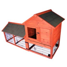 "Trixie Rabbit Hutch with Outdoor Run and Wheels (78.25"" x 31.75"" x 44.25"")"