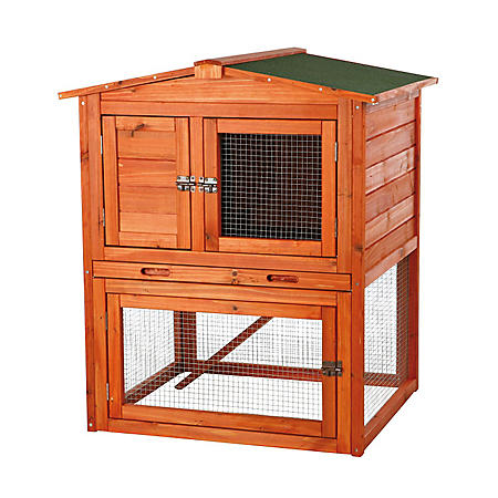"""Trixie 2-Story Rabbit Hutch with Gabled Roof (32.5"""" x 28.25"""" x 37.25"""")"""