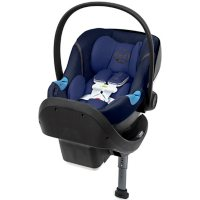 Cybex Aton M Infant Car Seat with SensorSafe & SafeLock Base, Denim Blue