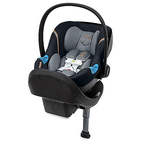 Cybex Aton M Infant Car Seat with SensorSafe and SafeLock Base, Pepper Black
