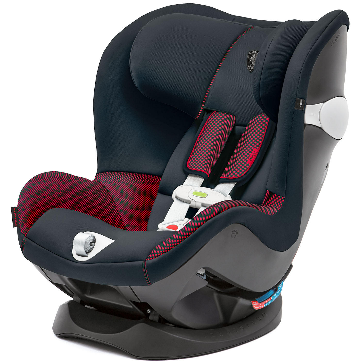 Cybex Sirona M Car Seat with SensorSafe 2.0, Ferrari Collection in Victory Black
