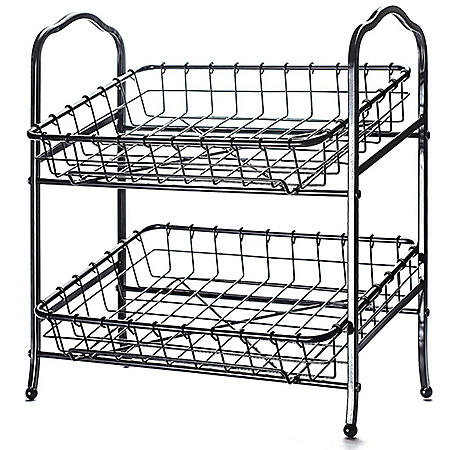 Two-Tier Countertop Basket Stand