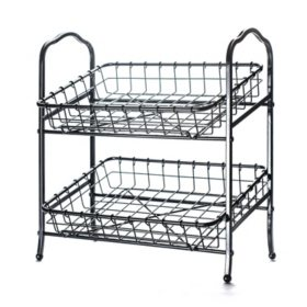 2-Tier Rectangle Basket Stand