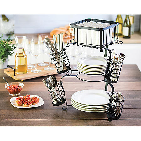 7-Piece Stackable Serving Caddy