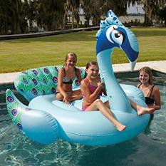 Giant Pool Float - Peacock