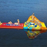 WOW Slide N Smile Floating Waterslide and 10 x 6' Walkway Platform