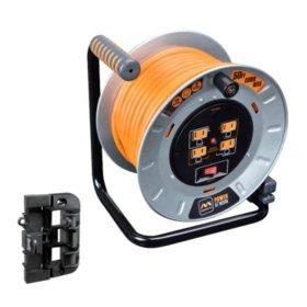 Masterplug 50' Heavy Duty Cord Storage Reel with Wall Mounting Bracket
