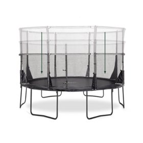 Plum 12' Space Zone II Evolution Springsafe Trampoline and Enclosure