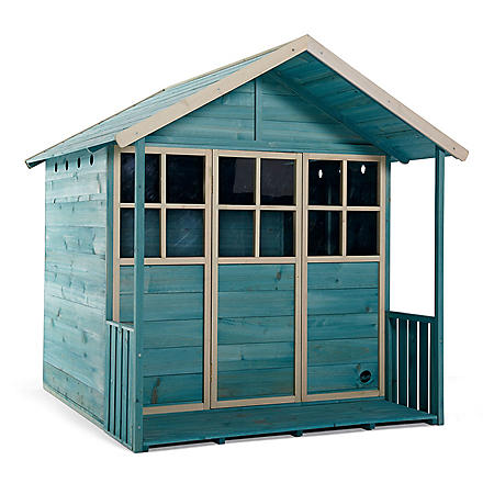 Plum Deckhouse Wooden Playhouse (Teal)