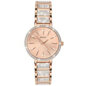 Seksy Aurora Rose Gold Plated Bracelet Watch