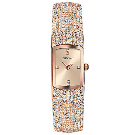 Seksy Rose Gold Plated Bracelet Watch