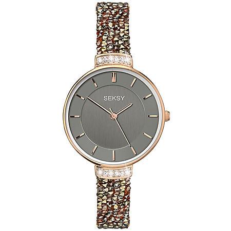 d8d17a6b9407 Seksy Rocks® Rose Gold Plated Bracelet Watch - Sam s Club