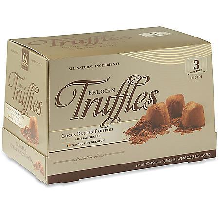 Belgian Cocoa Dusted Truffles 3pk (48 oz.)